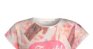Koszulka dla dziewczynki krótki rękaw na lato Emoi różowa