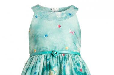 Elegancka sukienka koktajlowa dla dziewczynki niebieska