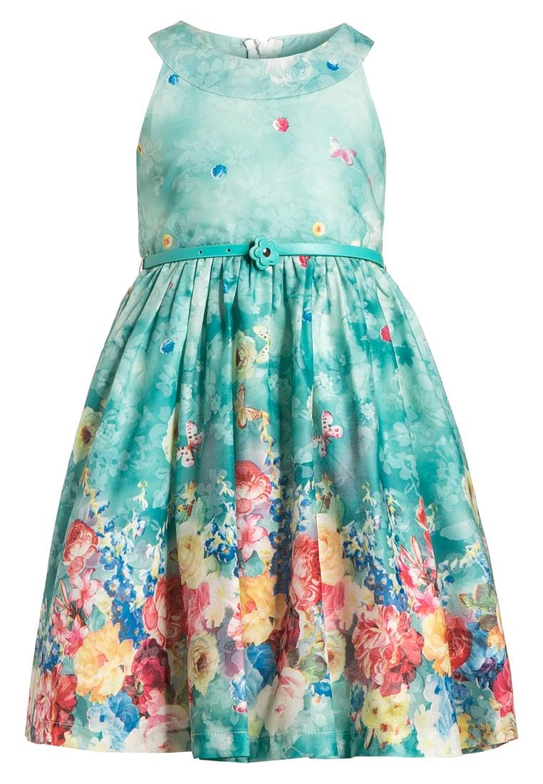 Elegancka sukienka koktajlowa dziecięca niebieska