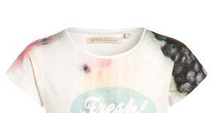 Koszulka dla dziewczynki krótki rękaw na lato Emoi jasny róż