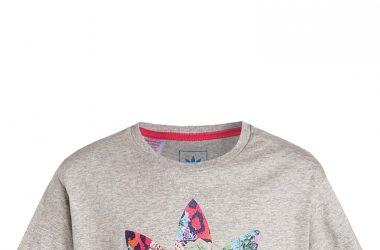 Krótka letnia koszulka dla dziewczynki Adidas szara