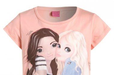 Bawełniana bluzka dla dziewczynki Top Model morelowa