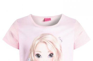 Bawełniana bluzka dla dziewczynki Top Model jasny róż