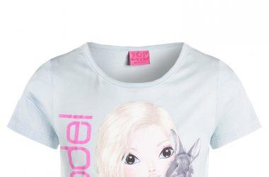 Bawełniana bluzka dla dziewczynki Top Model niebieska