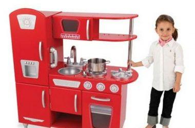 Duża kuchnia dla dzieci do gotowania w kolorze czerwonym