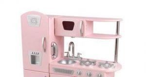 Duża kuchnia dla dzieci do gotowania w kolorze różowym