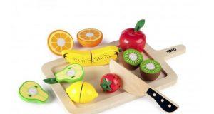 Drewniane owoce do krojenia dla dzieci