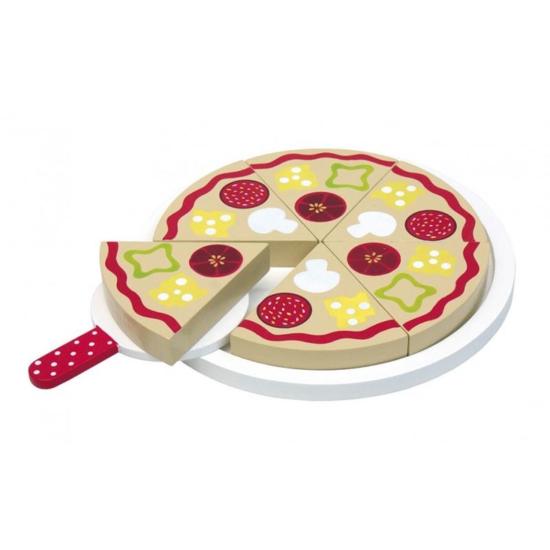 Drewniana zabawkowa pizza dla dzieci