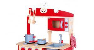 Duża kuchnia dziecięca czerwona