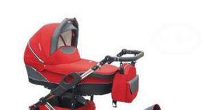 Wózek wielofunkcyjny z fotelikiem samochodowym czerwony