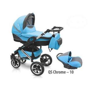 Wózek wielofunkcyjny z fotelikiem samochodowym niebieski
