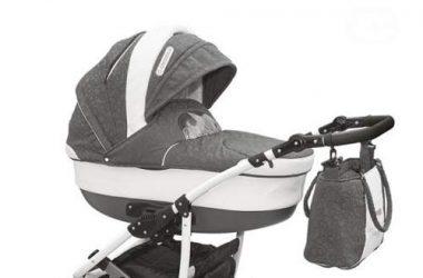 Wózek dziecięcy wielofunkcyjny plus fotelik, szary