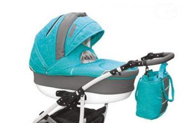 Wózki dziecięce wielofunkcyjne plus fotelik, niebieski