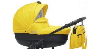 Wózki dziecięce wielofunkcyjne 3w1 czarno żółty