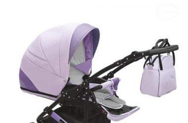 3w1 Wózek dziecięcy wielofunkcyjny fioletowy