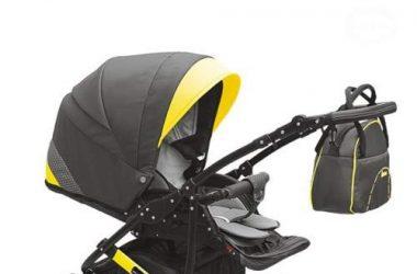 3w1 wózek dziecięcy wielofunkcyjny czarny z żółtym