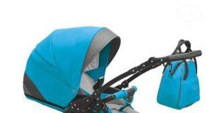 3w1 wózek dziecięcy wielofunkcyjny niebieski