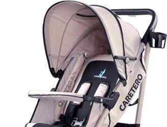 Wózek spacerowy dla dzieci beżowy