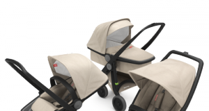 wózki dziecięce 3w1 głęboki spacerowy i klasyczny zestaw czarno piaskowy