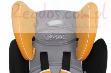 Foteliki samochodowe dla dzieci czarno szaro pomarańczowy