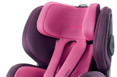 Obrotowe samochodowe foteliki dla niemowląt fiolet róż