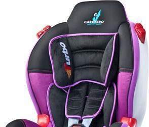 Fotelik samochodowy dla dziecka od 9 do 25 kg fioletowy