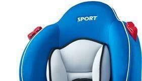Samochodowy fotelik dziecięcy Sport Classic 9-25 kg granatowy