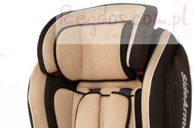 Samochodowy fotelik dla dziecka brązowy
