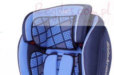 Samochodowy fotelik dla dziecka niebieski