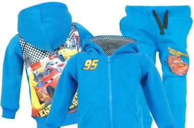 Niebieski dres Auta Cars dla chłopca bluza i spodnie
