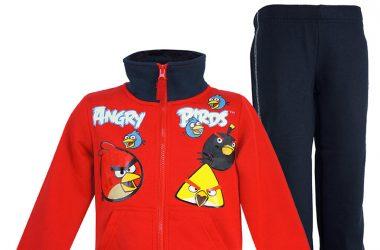 Dres Angry Birds ubrania dziecięce dla chłopca czerwono granatowy