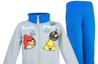 Dres Angry Birds ubrania dziecięce dla chłopca szaro niebieski