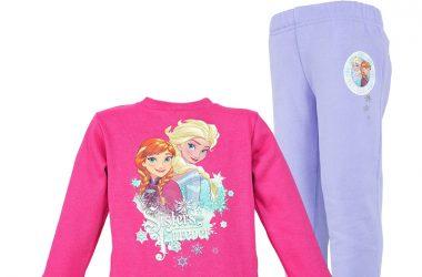 Dres frozen ubrania dziecięce dla dziewczynki szaro różowy