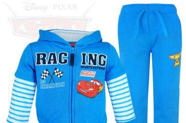 Niebieski dres dla chłopca Auta Cars bluza i spodnie