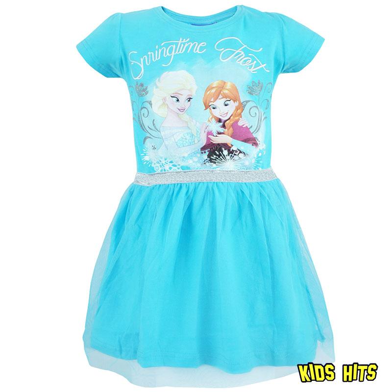 Letnia sukienka dla dziewczynki Disney Frozen niebieska