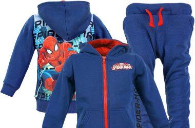 Granatowy dres spiderman dla chłopca