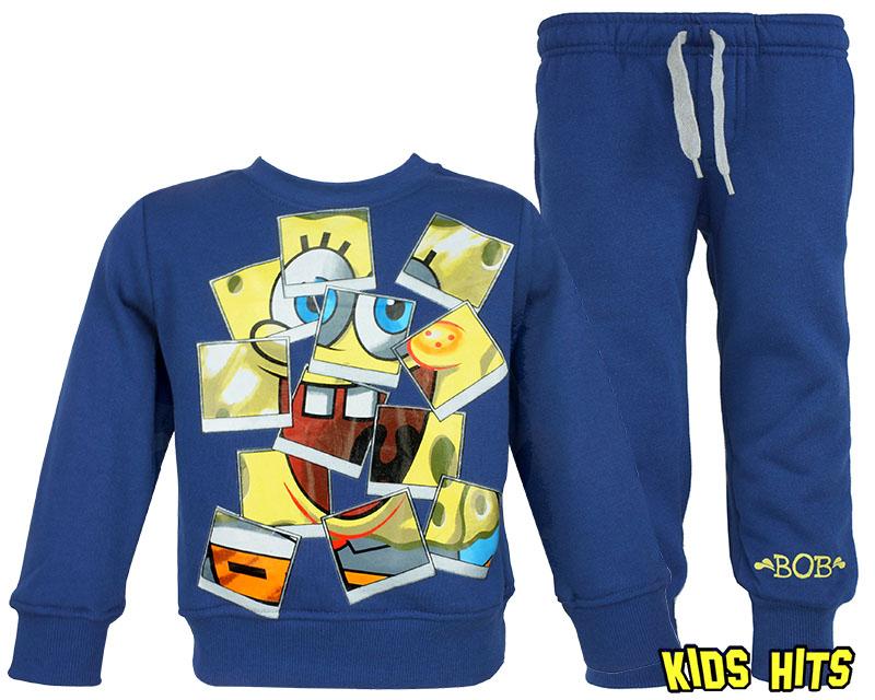 Super dres dla chłopca SpongeBob ubrania dziecięce kolor granatowy