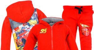 Czerwone dresy Auta Cars dla chłopca bluza i spodnie
