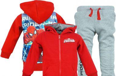 Czerwony dres dla chłopca spiderman