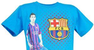 "koszulka piłkarska dla dzieci - FC Barcelona ""Messi"" niebieska"