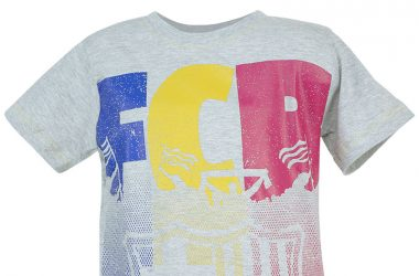 """Koszulki piłkarskie dla dzieci - FC Barcelona """"FCB"""" szara"""