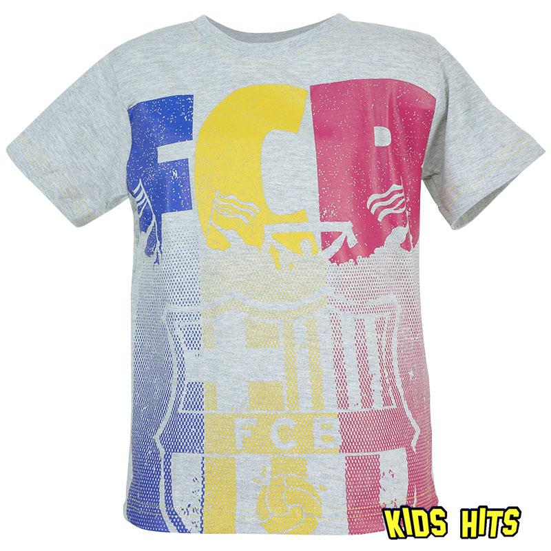"""Koszulki piłkarskie dla dzieci –  FC Barcelona """"FCB"""" szara"""