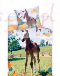 Dziecięca pościel z koniem 160x200