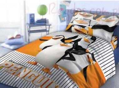 Pościel Pingwiny z Madagaskaru 160×200
