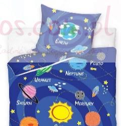 Pościel Układ Słoneczny 160x200 cm dla dziewczynek i chłopców