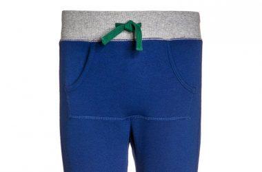 Dresowe spodnie dla dzieci niebieskie