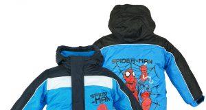Kurtka zimowa Spiderman dla chłopca niebieska