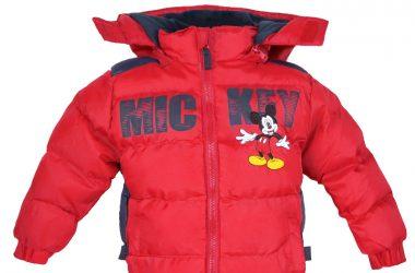 Dziecięca kurtka zimowa myszka Miki czerwona