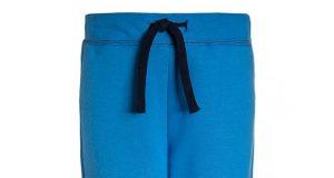 Bawełniane spodnie dziecięce niebieskie