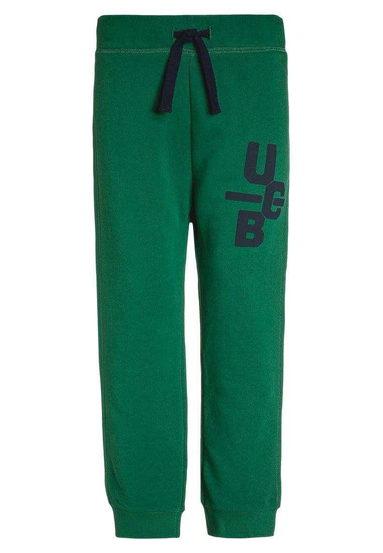 Bawełniane spodnie dziecięce zielone